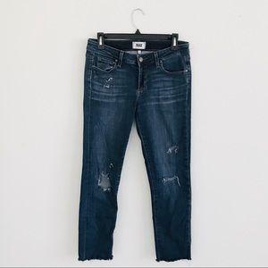 Paige   skyline ankle peg distressed jeans 29